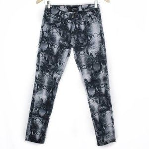 The Kooples Python Short Fit Cropped Skinny Jeans
